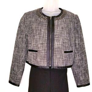 H&M Studded tweed cropped  jacket